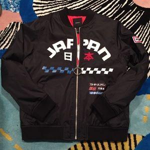 Racer Style Bomber Jacket